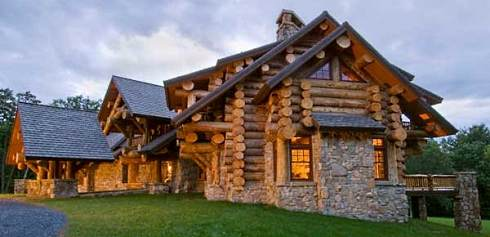 Log home house plans a monumental and majestic for Log and stone home plans