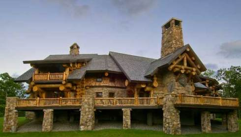 Log Home House Plans A Monumental and Majestic Masterpiece
