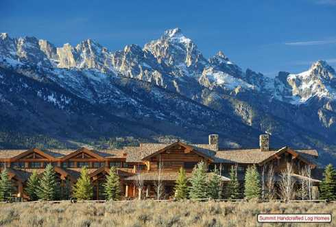 Standout Log Homes Plans A Majestic Mountain Home