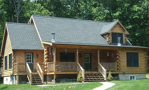 Modular Log Cabins...The Most Complete Of All Prefabs To Arrive On on log home front door, luxury log cabin home designs, log home sunroom designs, log home entry designs, log home loft designs, log home interior design, log house designs, log home patio designs, log home enclosed porch designs, log home kitchen design, log home great room designs, log home front landscaping, log home counter tops, log home bath designs, log home garden designs, log home deck designs, log home bedroom designs, log home living room designs, log home window sill, log home balusters,