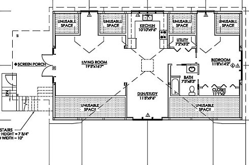 Pole barn with living quarters floor plans joy studio for Pole house floor plans
