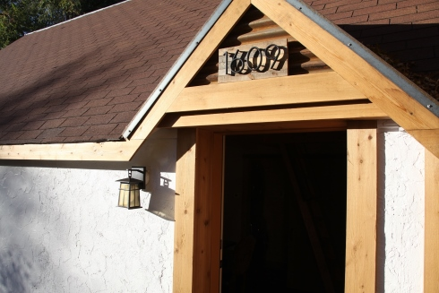 cabin exterior doorway