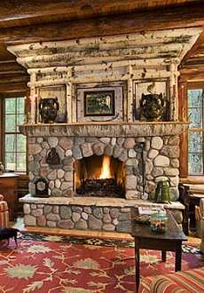 Rustic Stone Fireplace Magnificent The Rustic Stone Fireplace Amazing Adirondack Designs Decorating Inspiration