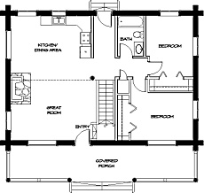 small cabin house plan by family home plans 99971 28 x 24 cabin
