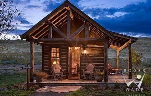 Standout small cabins a smorgasbord of styles for Front porch kits for sale