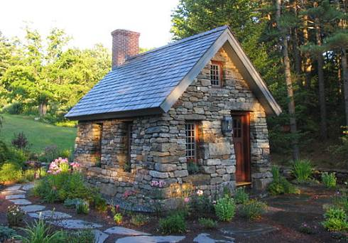 Standout cabin designs blog Stone cottage kit homes