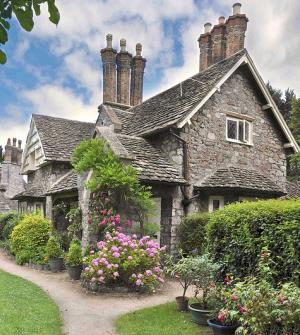 English Stone Cottage standout stone cottage designs . . . picture perfect!
