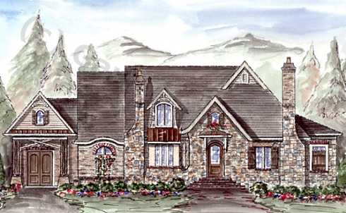 French country house plans and french country designs at for Stone cottage house plans