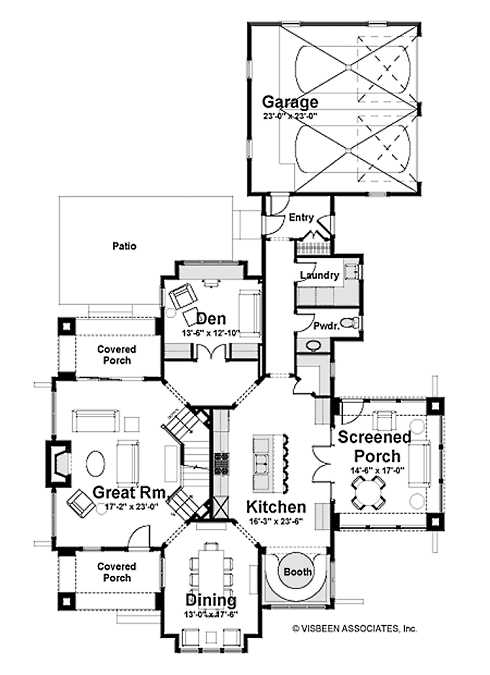 Small english stone cottage house plans for Stone house floor plans
