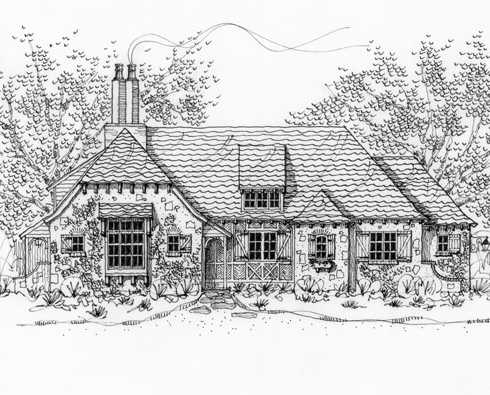 Storybook cottage house plans hobbit huts to cottage for Storybook cottage plans