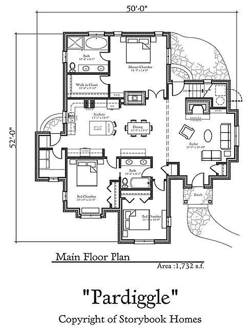 Storybook house plans joy studio design gallery best Storybook cottages floor plans