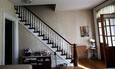farmhouse stairway