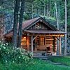 small log cabin