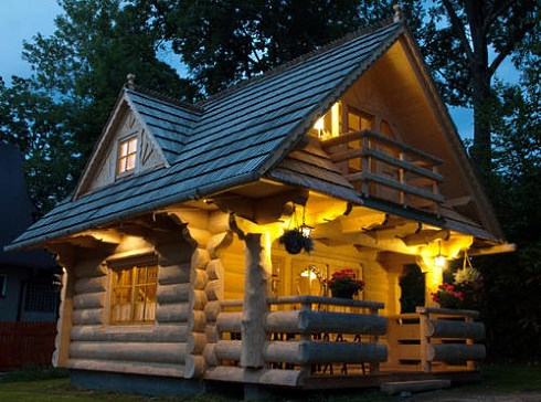 Tiny House Plans   Little Log Cottages!