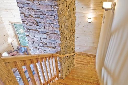 fishing cabin interior