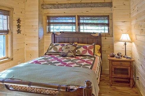 fishing cabin bedroom