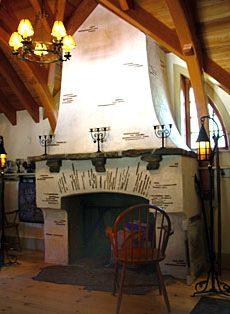 hobbit house fireplace
