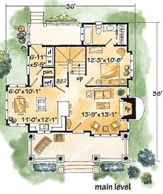 log cabin floor plan