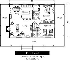 one room log cabin floor plan