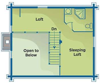 Small log cabin floor plans tiny time capsules for Log cabin floor plans with 2 bedrooms and loft