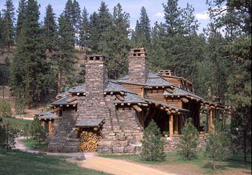 log cabin houses