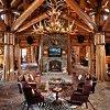 log cabin interior design