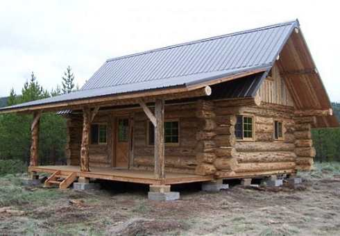 Log cabin style mobile homes well rounded walls on for Cabin builders montana