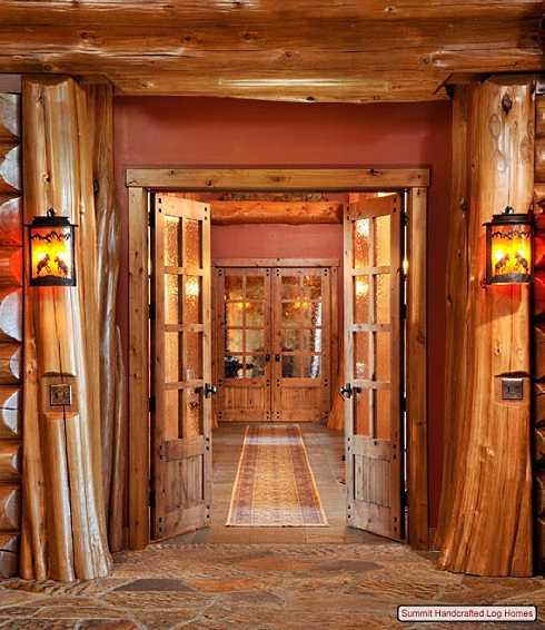 log home decorating