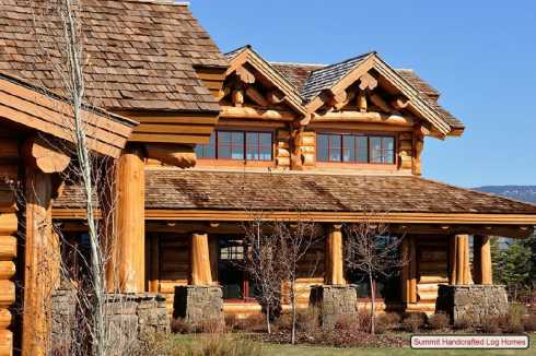 Standout log homes plans a majestic mountain home for Log and stone home plans