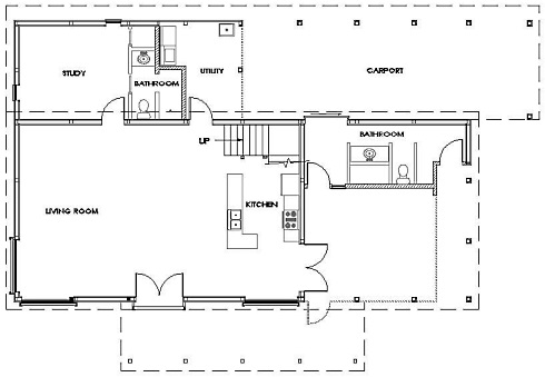 Pole barn house plans post frame flexibility for Barn house layouts