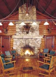 The Rustic Stone Fireplace Amazing Adirondack Designs