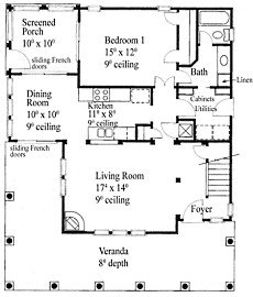 Small cottage house plans small in size big on charm for Summer cottage house plans