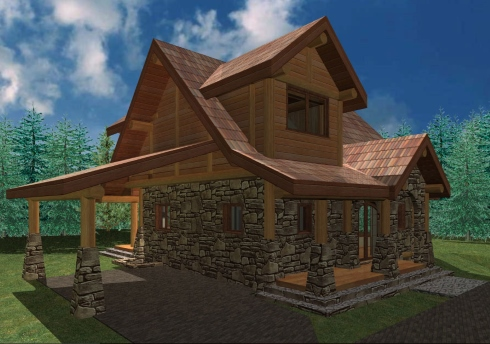 Small House Plan...A Storybook Cabin Cottage!