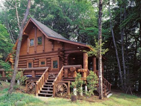 The small log cabin simply serene for Log home designs canada