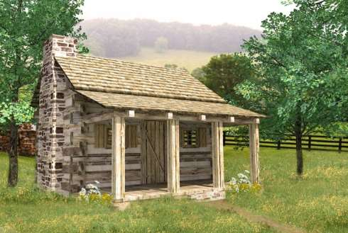 More small cabins little spaces picture perfect places for Small hunting cabin designs