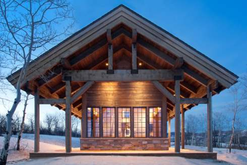 More small cabins little spaces picture perfect places for Small mountain cabin plans with loft