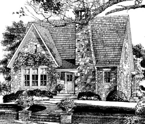 Standout stone cottage plans compact to capacious for Stone house floor plans