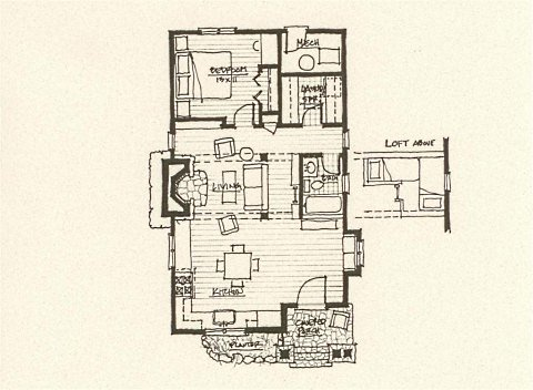 Storybook cottage house plans hobbit huts to cottage for French chalet house plans