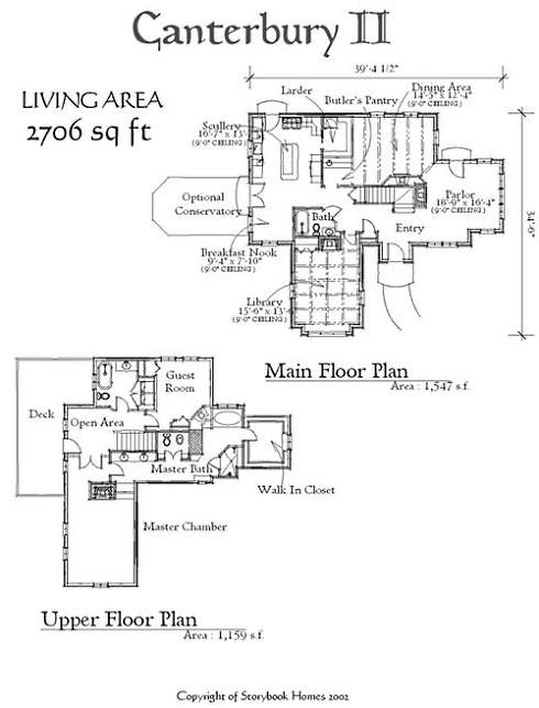 Storybook home plans old world styling for modern Storybook cottages floor plans