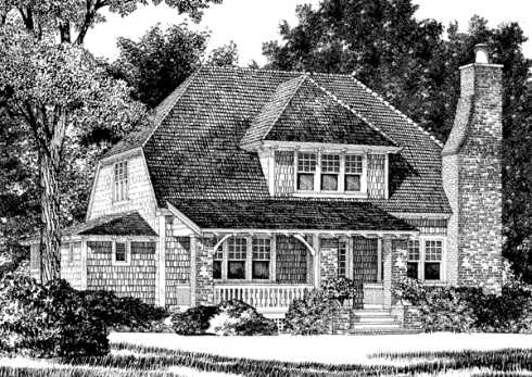 Storybook house plans cozy country cottages for Storybook cottage plans