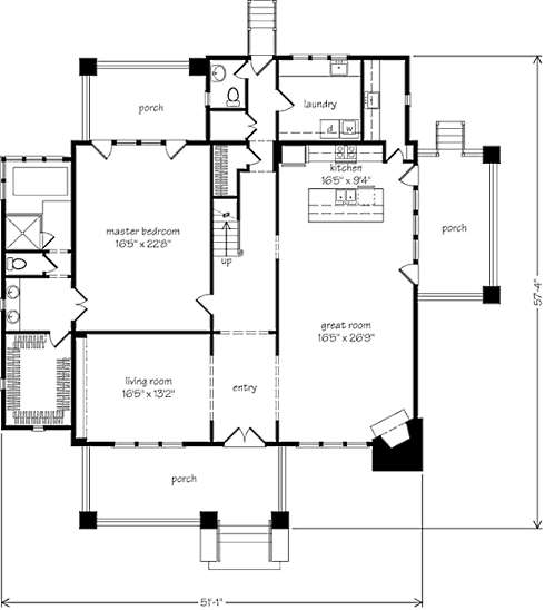Storybook house plans cozy country cottages for Cozy cottage floor plans