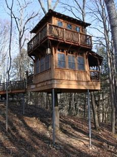 2 story tree house plans - House plans